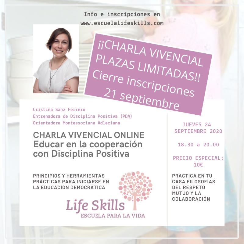 CHARLA VIVENCIAL-Educar en la cooperación con Disciplina Positiva